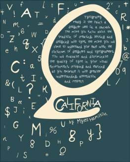 Typography-poster-California